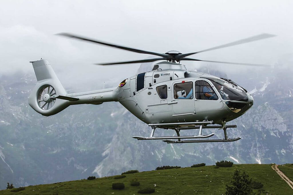 Three variants of the EC135/H135 have been offered with either Pratt & Whitney or Safran engines. The latest is the EC135 T3/P3 (H135), powered on the Pratt side by PW206B3 engines. Airbus Photo