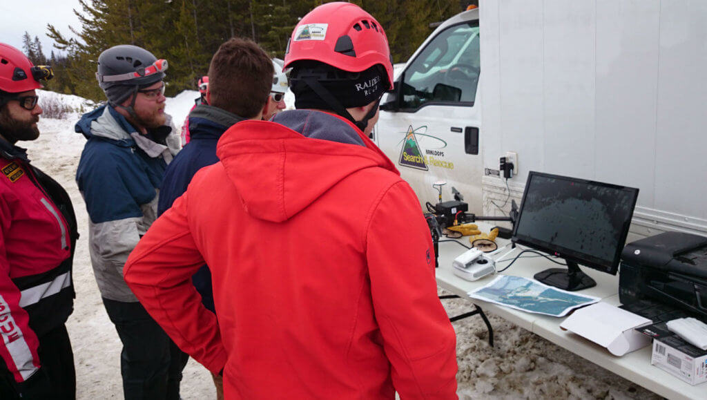 In late February, Hummingbird Drones deployed an infrared camera-equipped DJI drone, and found seven missing skiers and snowboarders who had ventured out-of-bounds near the Sun Peaks ski area.