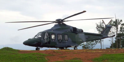 The current fleet of AW139s, configured for dual-use operations, has been routinely called upon to perform rescue missions, medical evacuations, and coastal patrolling. Two of the SENAN AW139s have recently deployed for further disaster relief efforts in Central America. Leonardo Photo