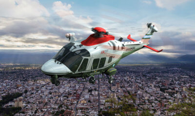 The Argentine National Gendarmerie will benefit from a customized configuration and the high versatility offered by the AW169. Leonardo Photo