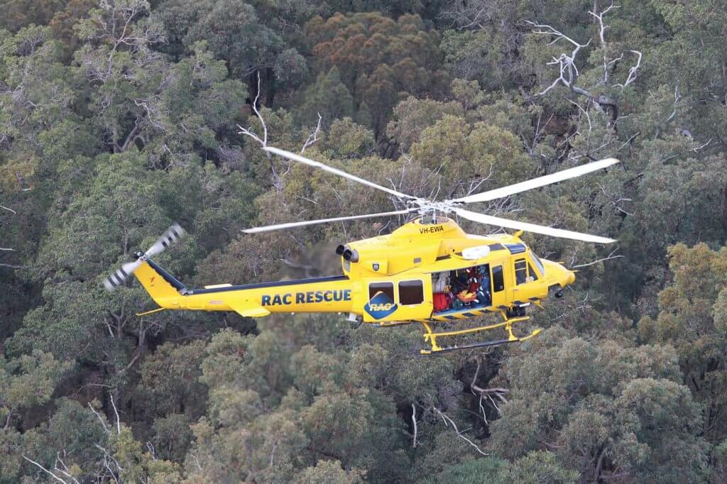 A Bell 412 utilized for emergency medical services (EMS) in Australia. According to CHC's Karl Fessenden, 15 percent of CHC's revenue is provided by its EMS and search-and-rescue work. CHC Photo