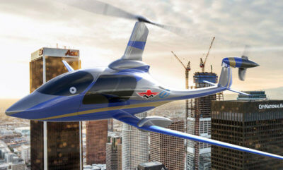 The aircraft will be a four- to six-seat air taxi for the intra city market, utilizing Carter's patented Slowed Rotor Compound technology for efficient hover and efficient cruise at 175 miles per hour, and benefitting from Mooney's extensive general aviation experience. Carter Photo