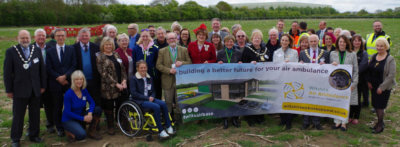The exciting milestone coincides with the charity's airbase appeal raising over £251,000, meaning that just under £1 million is needed to complete the building and equipping of the new airbase. WAA Photo