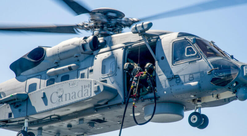 "Both Sikorsky and BAE, which built the helicopter's flight control system, are ""fully engaged"" in the ongoing investigation into a March 9 incident that saw a Cyclone experience a ""momentary change in the descent rate"" during a training mission. DND Photo"