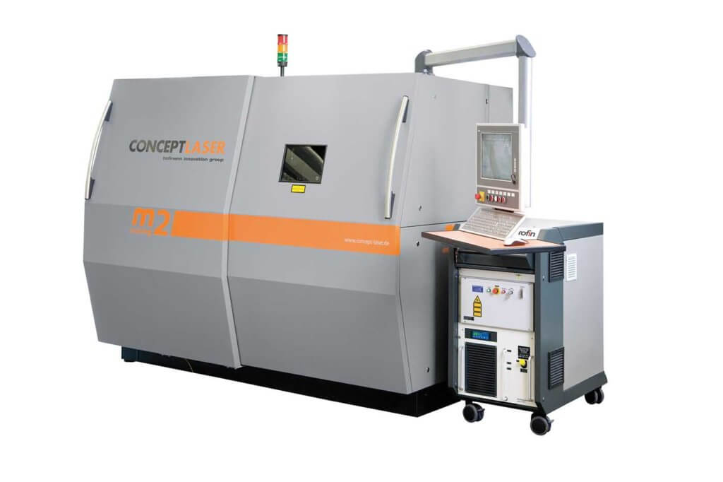 Concept Laser is one of the major producers of additive manufacturing devices, such as this M2 cusing system.