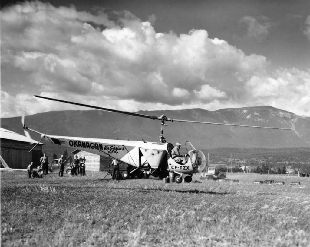 Okanagan Helicopters was one of three founding companies that created CHC. The operator is celebrating the 70th anniversary of Okanagan's founding in 2017.
