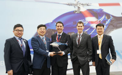 The Bell 429 recently delivered to Reignwood Investment, Ltd. will serve as the first Bell helicopter for emergency medical service missions in China. Bell Photo