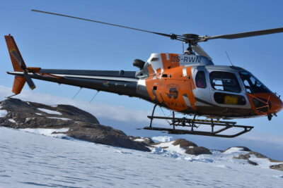 Ultimate Heli put more than 130 flight hours on its Airbus H125 during the company's third season in Antarctica. Ultimate Heli Photo