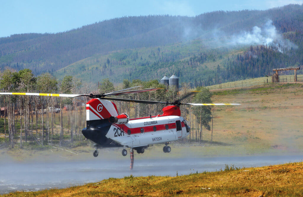 The first of those is within aerial firefighting, where the company has been involved in the development of a 2,800-gallon internal water tank for the CH-47D.