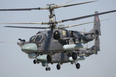 The Ka-52K is a naval variant of the Ka-52 Alligator combat helicopter. Russian Helicopters Photo