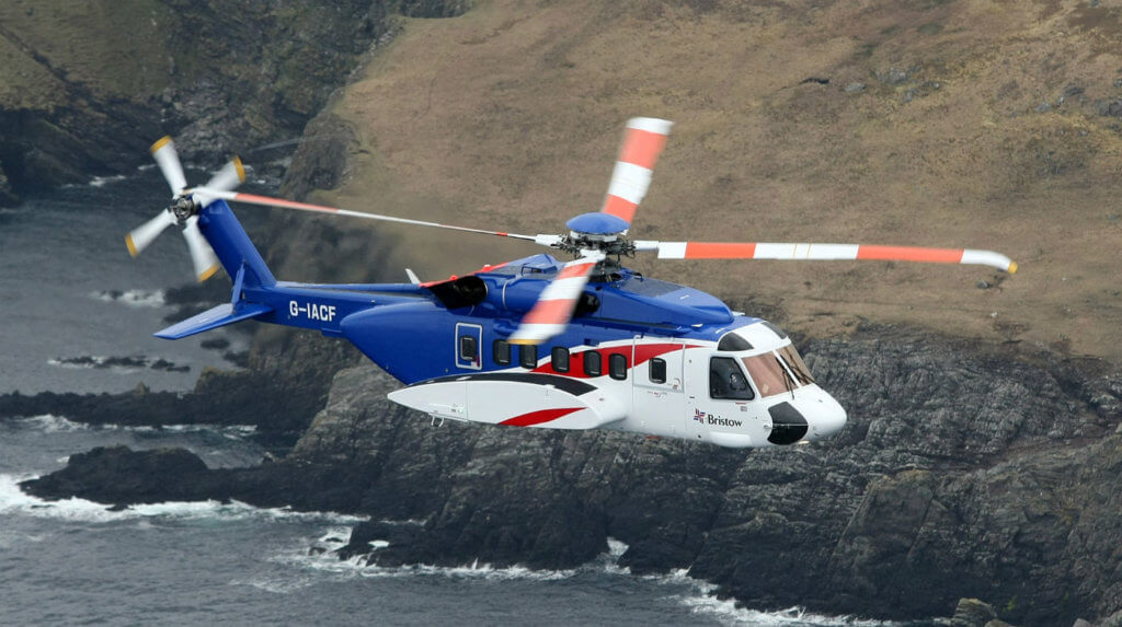 A Bristow S-92 helicopter