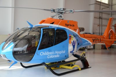 Airbus H130 with Children's Hospital Colorado livery