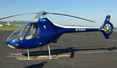 Registered G-CKCI, the first Cabri G2 is painted in Cobalt Blue and fitted with the latest Aspen Avionics panel. HeliGroup Photo