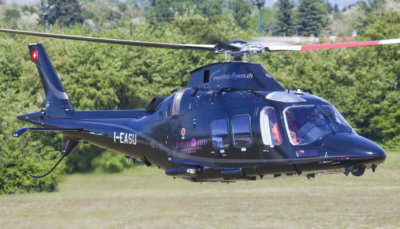 The GrandNew will be operated by Mountainflyers for heli-taxi duties establishing Bern Airport's first twin-engine VIP helicopter service. Leonardo Photos