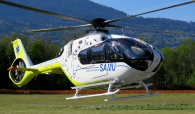 These helicopters are the very first H135s to be used in the emergency medical service role in France. Airbus Photo