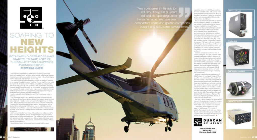 Duncan Aviation Insight spread