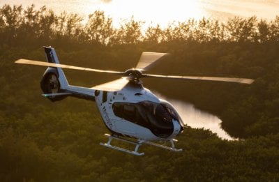 H135 helicopter in flight