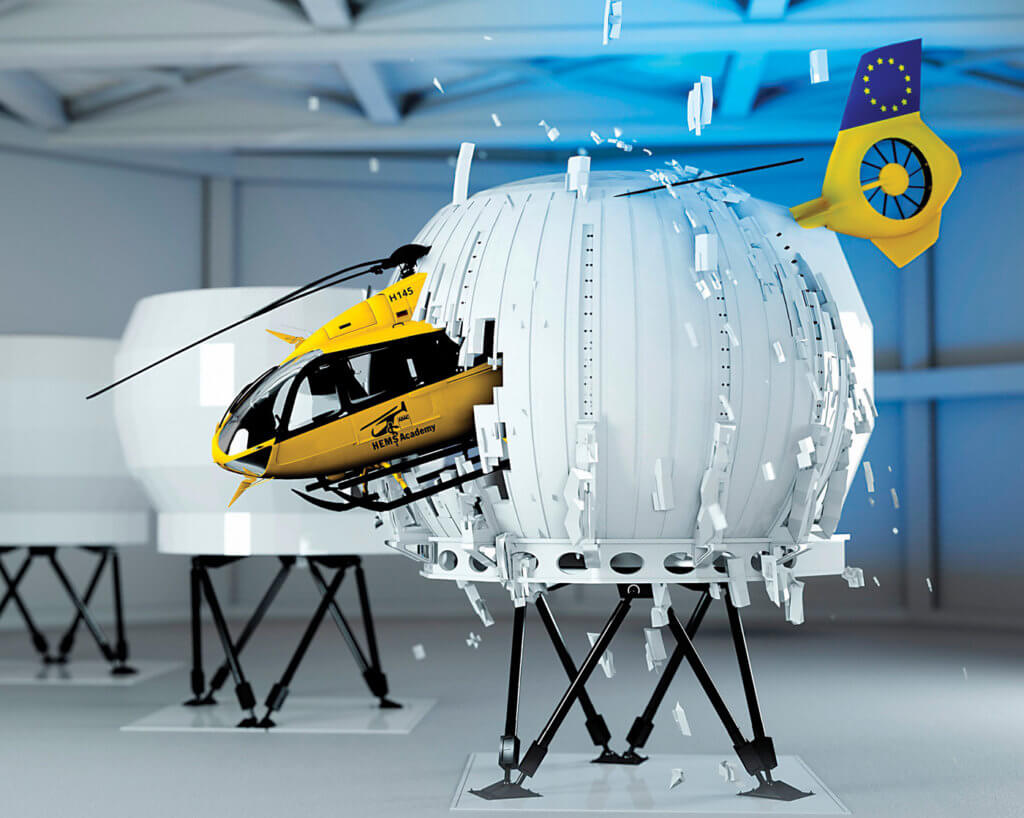 ADAC HEMS Academy in Germany is preparing to offer training on a new H145 Level D Full Flight Simulator.