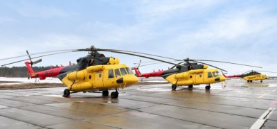 Skytrac Systems, in partnership with Eastern European distributor Depicon, expands automated flight tracking services to UTair-Helicopter Services' fleet of 46 Mil-8 helicopters. Skytrac Photo
