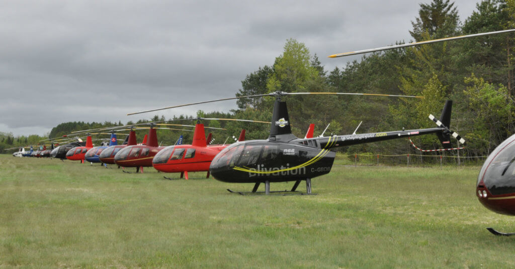 Twenty-six Robinson aircraft (20 R44s and six R66s) were on display during the fly-in.