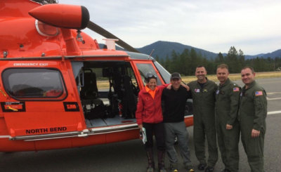 The Coast Guard located and hoisted a hiker on June 14, who had been missing for nearly five days while hiking in Southern Oregon. DVIDS Photo