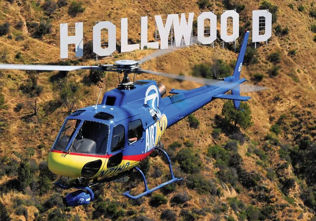Working over Hollywood is a routine occurrence for Air 7 HD.Working over Hollywood is a routine occurrence for Air 7 HD.