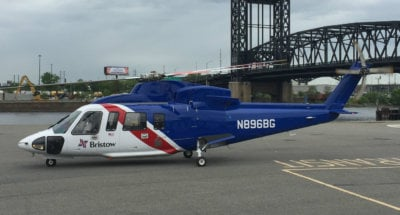 Branded as Blade's Ultra service, Bristow will utilize Sikorsky S-76 C++ aircraft for the flights. Bristow Photo