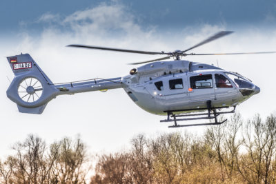 Airbus H145 helicopter in flight