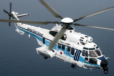 This new order will bring the Japan Coast Guard's total H225 fleet to nine units by February 2020. Airbus Photo