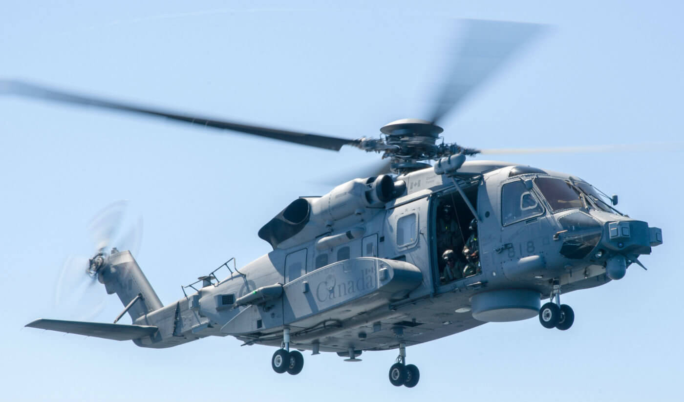 """The CH-148 Cyclone is back in the air following an operational """"pause."""" A software glitch has been identified as the cause of an incident which resulted in the helicopter experiencing a """"momentary change in the descent rate."""" DND Photo"""
