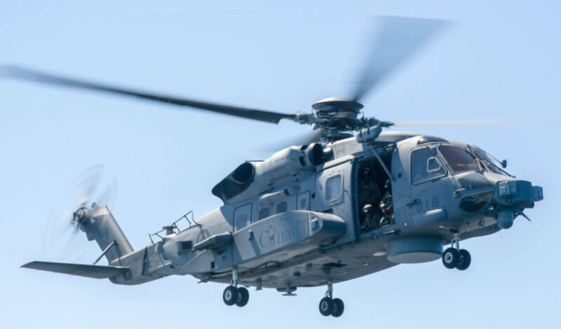 "The CH-148 Cyclone is back in the air following an operational ""pause."" A software glitch has been identified as the cause of an incident which resulted in the helicopter experiencing a ""momentary change in the descent rate."" DND Photo"