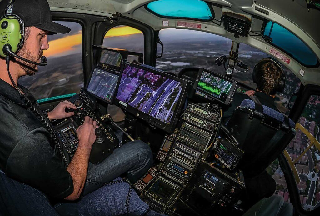In Air 7 HD's cabin, camera operator Rob Gluckman needs to juggle multiple tasks to do his job efficiently, and have a clear understanding of the camera and mapping system. Skip Robinson Photos