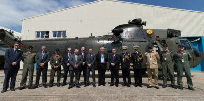 The ceremony for the formal handover of the aircraft from UK MoD's Disposal Services Authority to the Pakistan Navy, held at Fleetlands on May 24, was attended by the Pakistan High Commissioner to the U.K., Syed Ibne Abbas, and Bob Richardson from the DSA. Vector Photo