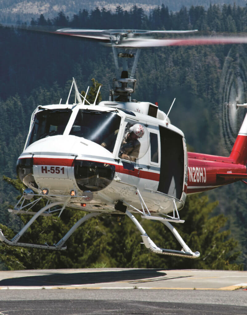 The Bell 205A-1 has proven to be an ideal multi-tool, allowing rescuers to use either heli-rappel or short-haul techniques to fit the situation at hand.
