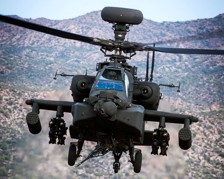 As of July 1, the current Boeing Military Aircraft and Network & Space Systems segments will evolve into smaller entities, including the AH-6i, AH-64 Apache (pictured here), and CH-47 Chinook helicopters; and the V-22 Osprey tilt rotor. Boeing Photo