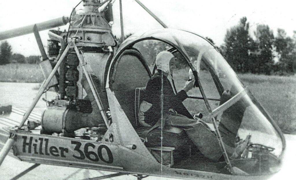 Valérie André's first solo flight as a helicopter pilot on Aug. 30, 1950, at Helicop'Air training facilities in France.