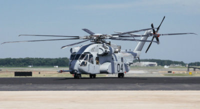 The CH-53K King Stallion arrives at Naval Air Station, Patuxent River, on June 30, 2017. The CH-53K helicopter flew from Sikorsky's Development Flight Center in West Palm Beach to PAX, a distance of approximately 810 miles. U.S. Navy Photo