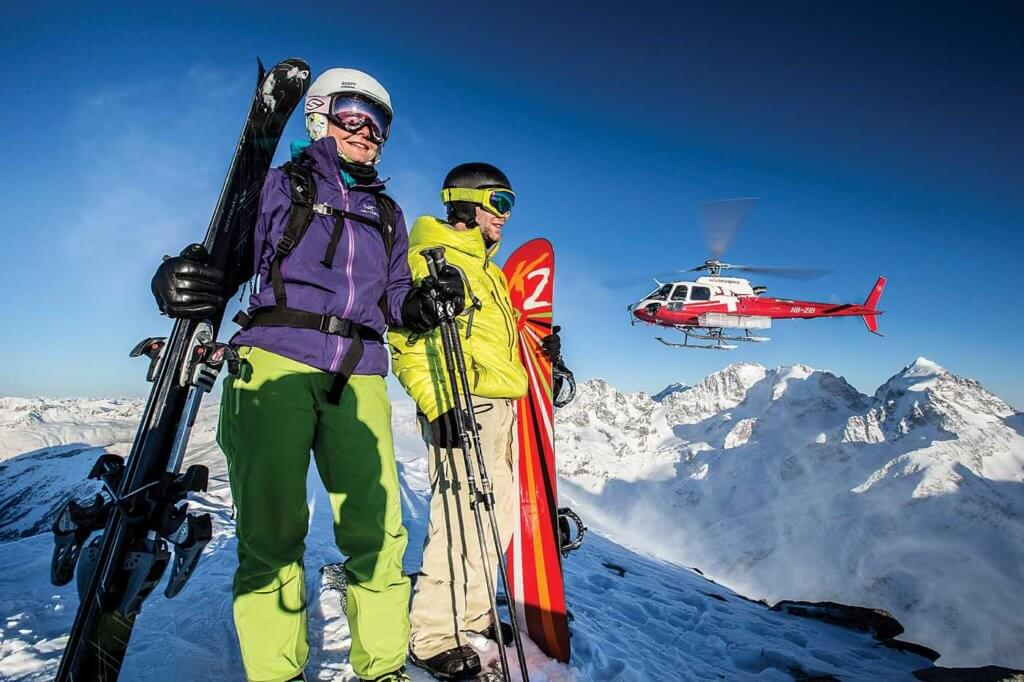 The heliskiing season is relatively short, typically running from March to April in Gsteigwiler.