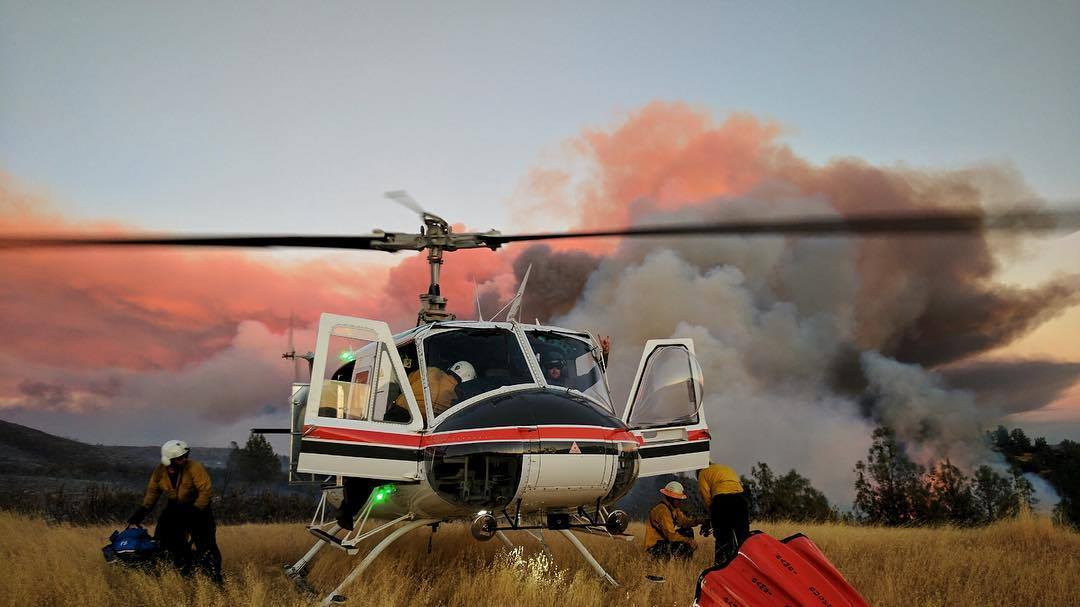 Initial attack on the Detwiler Fire. Photo by Instagram user @mactag_, submitted by @mediocrepilot using hashtag #verticalmag