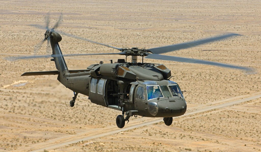 The TrakkaBeam A800 searchlight will be offered as part of the mission equipment package on the Sikorsky UH-60M. Lockheed Martin Photo