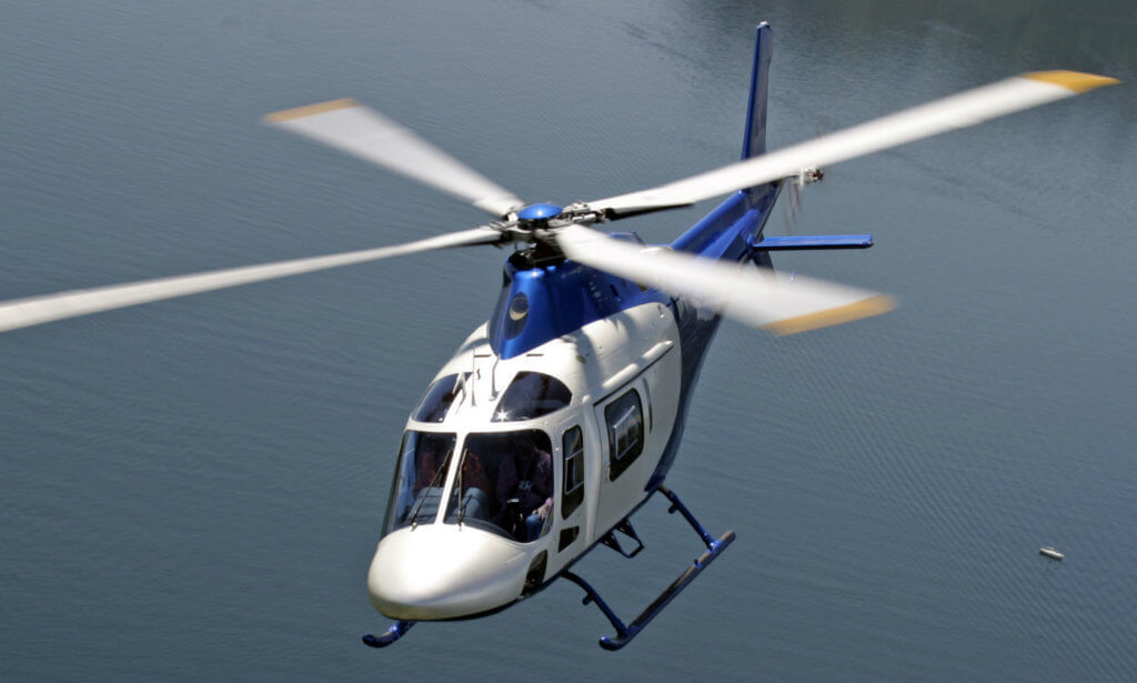 The AW119Kx is fully customized and features searchlight, FLIR, external loudspeakers, rappelling and cargo hooks, expanded fuel system, a foldable stretcher, and high visibility crew doors on both sides of the aircraft. The aircraft also includes provisions for a Bambi Bucket to be used for firefighting operations. Leonardo Photo