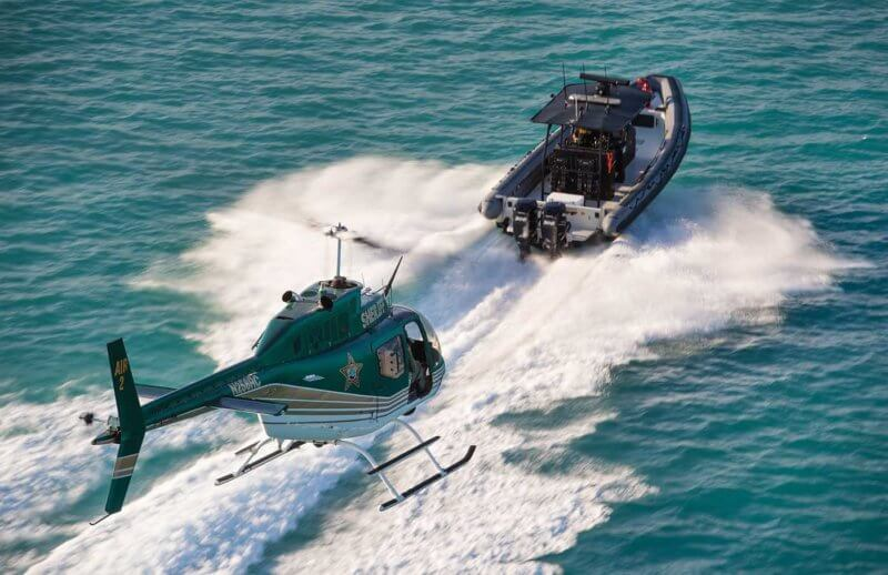 The Martin County Sheriff's Office (MCSO) Aviation Unit works closely with the agency's Marine Unit to provide public safety and law enforcement along the Atlantic coast and throughout many miles of inland waterways.