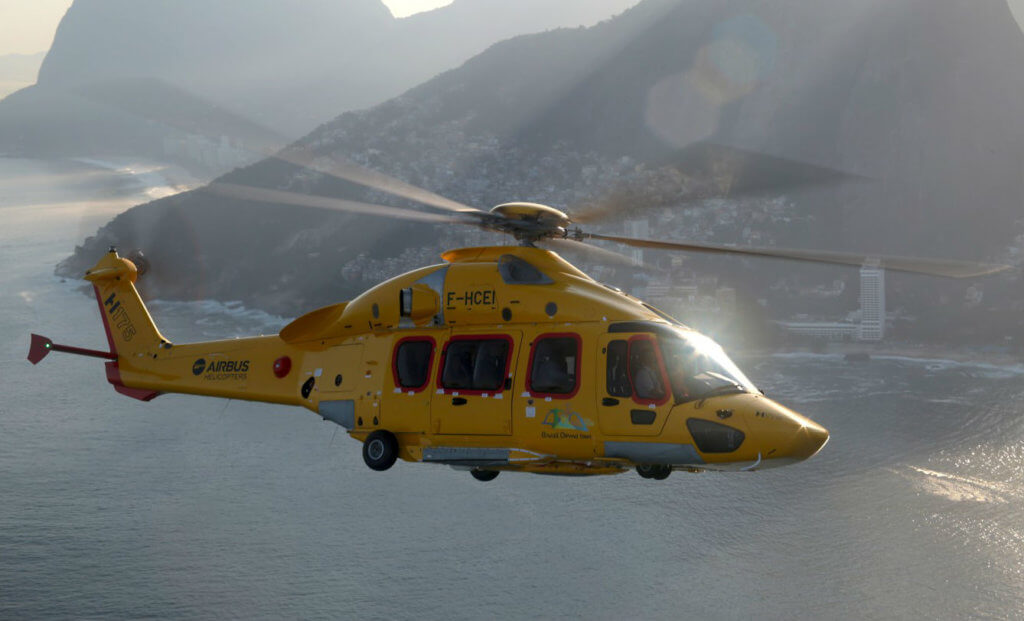 The new Leonardo AW189 and Airbus H175 (pictured here) aircraft will be configured for energy transport missions and will serve CHC customers in the North Sea and Australia. Airbus Photo