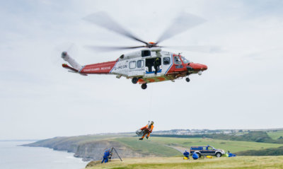 The new £20 million (approx. US$26 million) AW189 helicopters are painted in red and white HM Coastguard colors, and are operated by Bristow Helicopters Limited on behalf of HM Coastguard. Hm Coastguard Photo