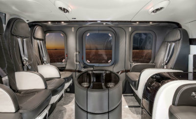 The completion was performed at Mecaer's Part 145 Repair Station and Leonardo Service Center at Northeast Philadelphia Airport (KPNE) while the major components of the interior were manufactured in Italy. MAG Photo