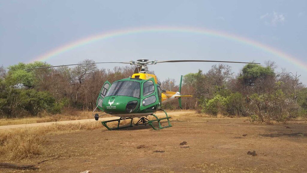 Hope helps sustain many helicopter operators in the fight against poaching. Maj Dei Enslin Photo