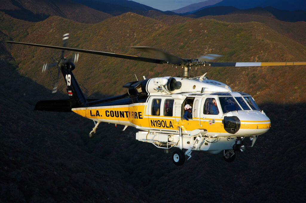 The L.A. County Fire Department also recently selected the S-70i to augment its existing fleet of S-70 Firehawks. Skip Robinson Photo
