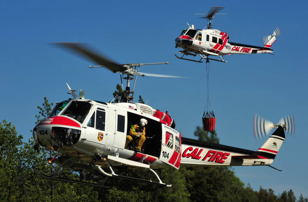 Cal Fire's Hueys underwent a major overhaul program in the 1990s. Although still safe and capable, according to Cal Fire spokesperson Janet Upton, they have become increasingly difficult to support. Skip Robinson Photo