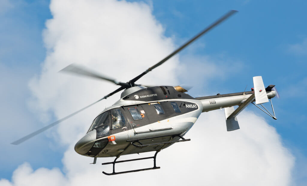 The Ansat is a multi-purpose light civilian helicopter powered by 630-horsepower PW 207K Pratt & Whitney Canada engines. It comes in two different models, one with a fly-by-wire flight control system and the other with traditional hydro-mechanical flight controls.