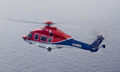 A CHC Airbus Helicopters H175 takes flight over the North Sea. Airbus Helicopters Photo